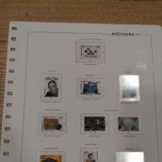 Timbres: HOJAS DE ÁLBUM UNIFIL SUPLEMENTO ANDORRA ESPAÑOLA AÑO 2011 MONTADO EN TRANSPARENTE (NUEVAS). Lote 266114768