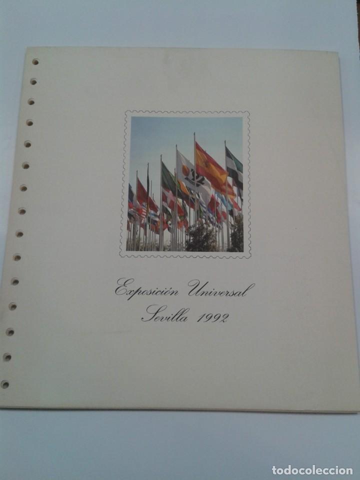 HOJAS ALBUM FILABO EXPOSICION UNIVERSAL SEVILLA 1992. EXPO 92 (Sellos - Material Filatélico - Hojas)