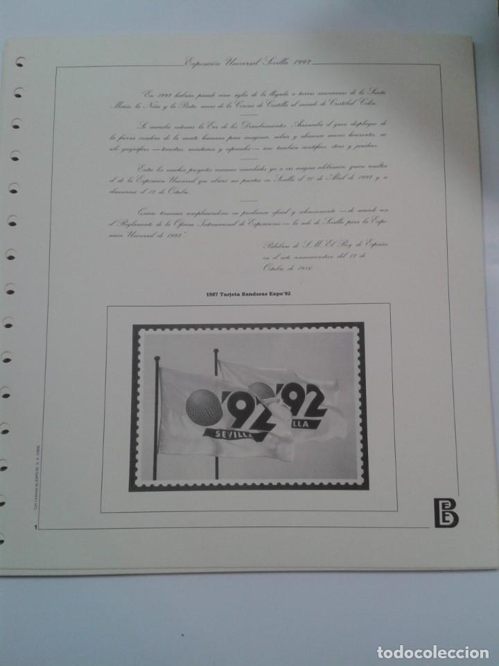 Sellos: HOJAS ALBUM FILABO EXPOSICION UNIVERSAL SEVILLA 1992. EXPO 92 - Foto 2 - 268939519