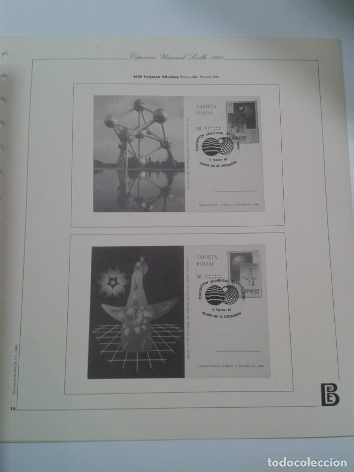 Sellos: HOJAS ALBUM FILABO EXPOSICION UNIVERSAL SEVILLA 1992. EXPO 92 - Foto 3 - 268939519