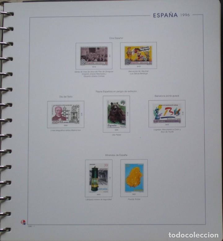 Sellos: ESPAÑA - HOJAS NUEVAS SIN MONTAR - MARCA UNIFIL - AÑO 1996 - 3 FOTOS - LEER COMENTARIO - Foto 2 - 270196798