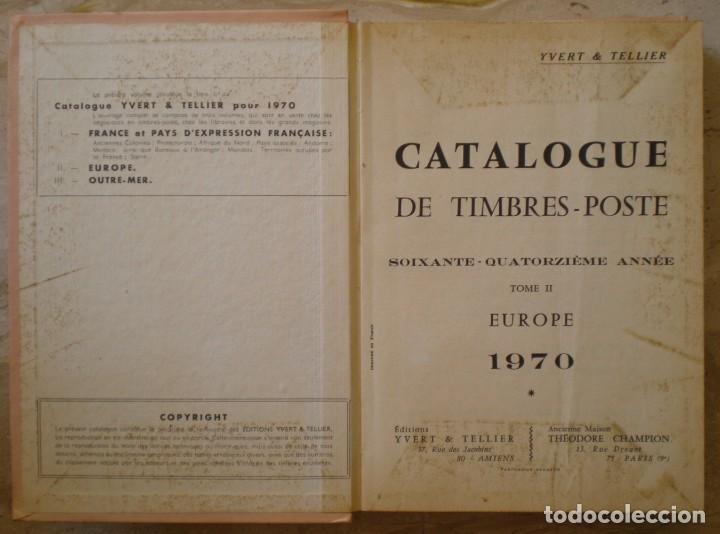Sellos: CATALOGO DE SELLOS IVERT & TELLIER DEL AÑO 1970 - VER 4 FOTOS - Foto 3 - 270197083