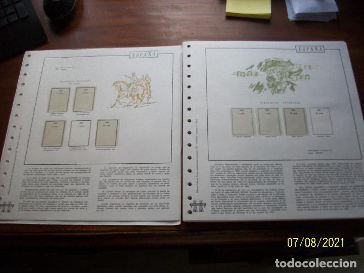 HOJAS TORRES EN TRANSPARENTES-AÑOS-1977-1978-1979-1980-1981 (Sellos - Material Filatélico - Hojas)