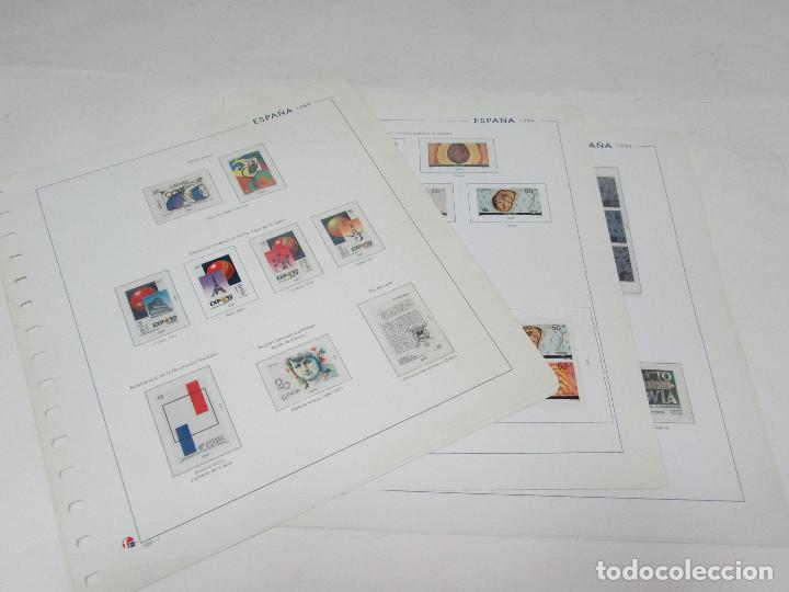 HOJAS UNIFIL CON FILOESTUCHES TRANSPARENTES. 1989. 8 HOJAS. (Sellos - Material Filatélico - Hojas)