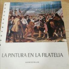 Sellos: HOJAS DE ÁLBUM SELLOS DE ESPAÑA LA PINTURA EN LA FILATELIA DEL AÑO 1930 AL 1982 (MONTADAS EN NEGRO). Lote 278358158