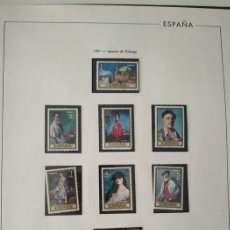 Sellos: HOJAS EDIFIL SELLOS ESPAÑA AÑO 1971 MONTADOS EN NEGRO HE70 1971. Lote 279439628