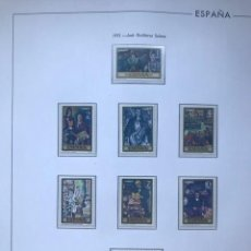 Sellos: HOJAS EDIFIL SELLOS ESPAÑA AÑO 1972 FILOESTUCHES NEGRO HE70 1972. Lote 279440213