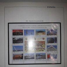 Sellos: HOJAS EDIFIL SELLOS ESPAÑA AÑO 1992 FILOESTUCHES NEGROS HE90 1992. Lote 279441858