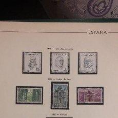 Sellos: HOJAS FILABO SELLOS ESPAÑA AÑO 1966 FILOESTUCHES NEGROS HE60 1966. Lote 279445308