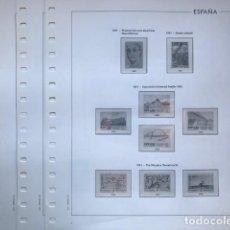 Sellos: HOJAS EDIFIL ESPAÑA AÑO 1991 FILOESTUCHES TRANSPARENTES HE90 1991. Lote 280573838