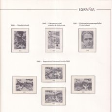Francobolli: SELLOS ESPAÑA OFERTA SUPLEMENTOS 1990 EDIFIL MONTADOS EN TRANSPARENTE MUY BUEN ESTADO SIN SELLOS. Lote 286187993