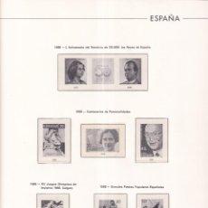 Selos: SELLOS ESPAÑA OFERTA SUPLEMENTOS 1988 EDIFIL MONTADOS EN TRANSPARENTE MUY BUEN ESTADO SIN SELLOS. Lote 286188108