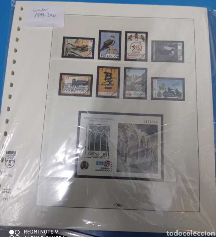 HOJAS LINDER 1999 2000 18 ANILLAS SEGUNDA MANO (Sellos - Material Filatélico - Hojas)
