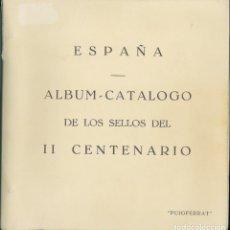 Sellos: ESPAÑA. ALBUM DE 1951 A 1975 PUIGFERRAT DE TORNILLOS MONTADO CON ESTUCHES.. Lote 288598638