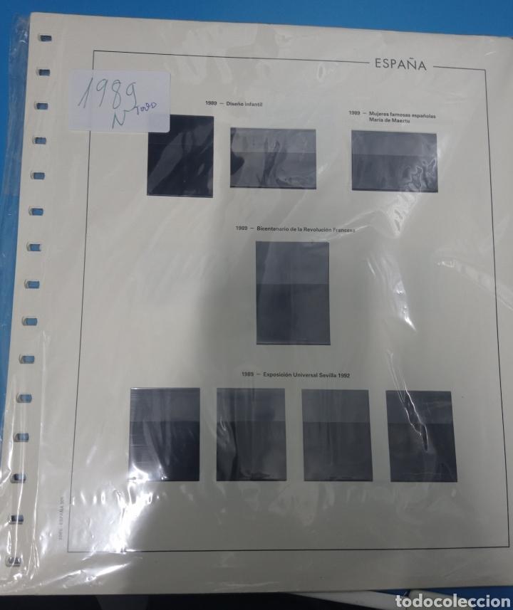 SUPLEMENTO EDIFIL 1989 MONTADO NEGRO HEFAR SEGUNDA MANO (Sellos - Material Filatélico - Hojas)