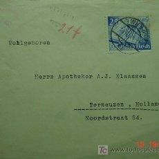 Sellos: 865 CARTA CIRCULADA ALEMANIA GERMANY HITLER CENSURA CENSURED C&C. Lote 14068918