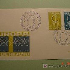 Sellos: 1957 HOLANDA NEDERLAND 1966 TEMA EUROPA SOBRE DIA EMISION SPD FDC MAS EN MI TIENDA COSAS&CURIOSAS. Lote 5453813