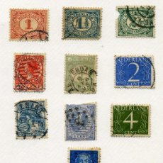 Sellos: HOLANDA LOTE DE 10 SELLOS MUY ANTIGUOS DESDE 1893 -DIFERENTES - USADO - VER DETALLE DE FOTOS. Lote 26683273