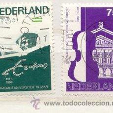 Sellos: HOLANDA 1988. CENTENARIO ERASMUS. Lote 8070292