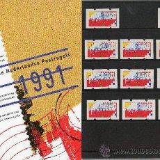 Sellos: PAISES BAJOS HOLANDA AÑO 1991 COMPLETO NUEVO*** EN CARPETA OFICIAL (INCLUYE ATM'S). Lote 27485538