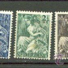 Sellos: SERIE DE HOLANDA 446/50. SIN FIJASELLOS PERO EL VERDE LIGERO ÓXIDO.. Lote 19095253