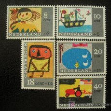 Sellos - Holanda 1965 Ivert 824/8 *** Dibujos Infantiles - Pintura - 17648059