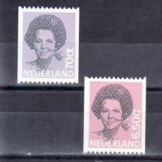 Sellos: HOLANDA 1168A, 1170A SIN CHARNELA, MONARQUIA, REINA BEATRIZ . Lote 19601848