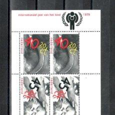 Sellos: HOLANDA HB 20 SIN CHARNELA, INFANCIA, AÑO INTERNACIONAL DEL NIÑO, . Lote 19849636