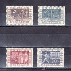 Sellos: HOLANDA 578/81 CON CHARNELA, CENTENARIO DEL P.T.T., EXPOSICION FILATELICA DE UTRECHT . Lote 19788821