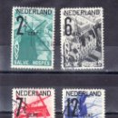 Sellos: HOLANDA 241/4 USADA, MOLINO, FLORES, TURISMO DE HOLANDA, . Lote 19791716