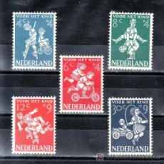 Sellos: HOLANDA 696/700 CON CHARNELA, INFANCIA, JUEGOS, . Lote 19784812