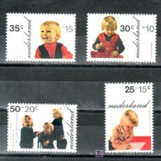 Sellos: HOLANDA 972/5 SIN CHARNELA, JOVENES PRINCIPES EN FOTOS TOMADAS POR SUS PADRES . Lote 19732682