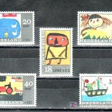 Sellos: HOLANDA 824/8 SIN CHARNELA, INFANCIA, DIBUJOS POR NIÑOS . Lote 19776285