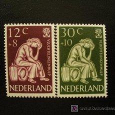 Sellos: HOLANDA 1960 IVERT 717/8 *** AÑO MUNDIAL DEL REFUGIADO. Lote 27423238