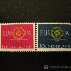 Sellos: HOLANDA 1960 IVERT 726/7 *** EUROPA. Lote 21013567