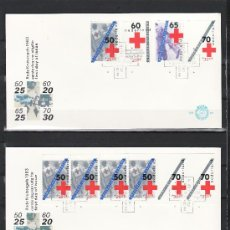 Sellos: HOLANDA 1206/9, 1206A DE CARNET PRIMER DIA, CRUZ ROJA HOLANDESA, . Lote 22390430