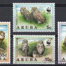 Sellos: ARUBA AÑO 1994 YV*** MI 134/37*** WWF - CONSERVACIÓN DE LA FAUNA - AVES - BUHOS. Lote 27099559