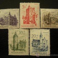 Sellos: HOLANDA 1951 IVERT 554/8 *** PRO OBRAS DE BENEFICENCIA - CASTILLOS - ARQUITECTURA - MONUMENTOS. Lote 26205511
