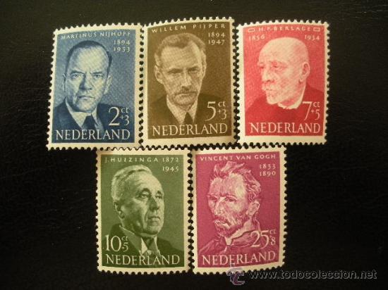 HOLANDA 1954 IVERT 618/22 *** PRO OBRAS DE BENEFICENCIA - PERSONAJES (Sellos - Extranjero - Europa - Holanda)