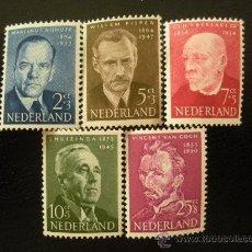Sellos: HOLANDA 1954 IVERT 618/22 *** PRO OBRAS DE BENEFICENCIA - PERSONAJES. Lote 26031522