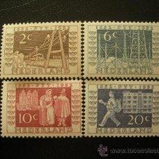 Sellos: HOLANDA 1952 IVERT 578/81 *** EXPOSICIÓN FILATELICA DE UTRECH. Lote 26031463