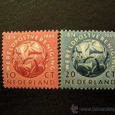 Sellos: HOLANDA 1949 IVERT 528/9 *** 75 ANIVERSARIO DE LA U.P.U.. Lote 26031456