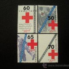 Sellos: HOLANDA 1983 IVERT 1206/9 *** CRUZ ROJA HOLANDESA. Lote 24547755