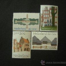 Sellos: HOLANDA 1975 IVERT 1018/21 *** AÑO EUROPEO DE LA ARQUITECTURA - MONUMENTOS. Lote 24825174