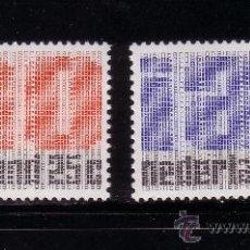 Sellos: HOLANDA 886/87*** - AÑO 1969 - 50º ANIVERSARIO DE LA ORGANIZACIÓN INTERNACIONAL DEL TRABAJO. Lote 26577589