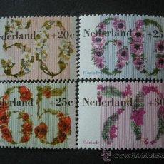 Sellos: HOLANDA 1982 IVERT 1173/6 *** PRO OBRAS SOCIALES Y CULTURALES - FLORIADE-82 - FLORA. Lote 26647352
