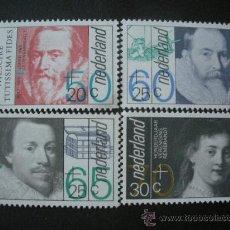 Sellos: HOLANDA 1983 IVERT 1198/1201 *** PRO OBRAS SOCIALES Y CULTURALES - PERSONAJES SIGLO XVII. Lote 26647427