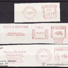 Sellos: FRANQUEO MECANICO LOTE DE TRES FRAGMENTOS 1976 PRENSA EDITORIALES. Lote 26733278