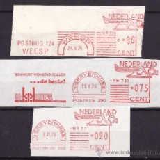 Sellos: FRANQUEO MECANICO LOTE DE TRES FRAGMENTOS 1976 PRENSA EDITORIALES . Lote 26733286