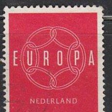 Sellos: HOLANDA IVERT 708, EUROPA 1959, USADO . Lote 27934575
